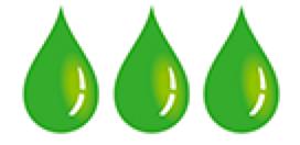 Green Eye Droplets Icon.