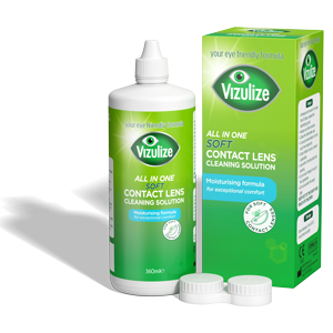 Vizulize All-in-One Soft Contact Lens Cleaning Solution 360ml.