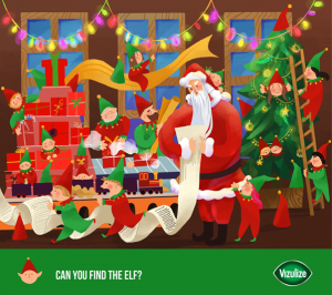 """Can You Find The Elf?"" Graphic."